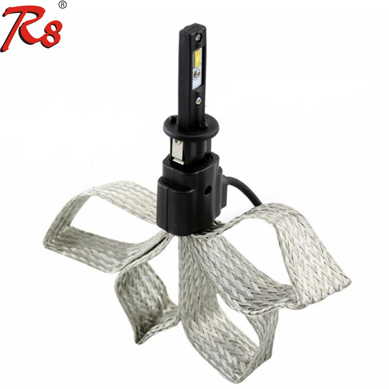 Fanless F2 H1 LED Headlight Car 3500K 5500K 6500K 30W 3200LM 7 Inch Round LED Headlight 12V 24V