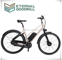 Fashionable aluminum alloy electric city bike/bicycle EB5012A 28 inch wheel bike with 36V lithium battery for adult