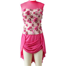 NT16093 Rose mesh and flowe overlay costumes for adult and women. contemporary,lyrical ,ballet costumes dresses
