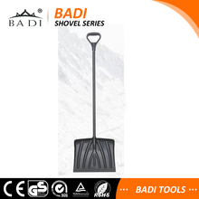 lightweight long aluminum handle plastic head snow shovel