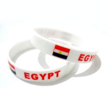 Cheap rubber bracelet Egypt custom silicone wristband