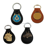 Wholesale Key Holder Leather Keyring Custom Leather Keychain