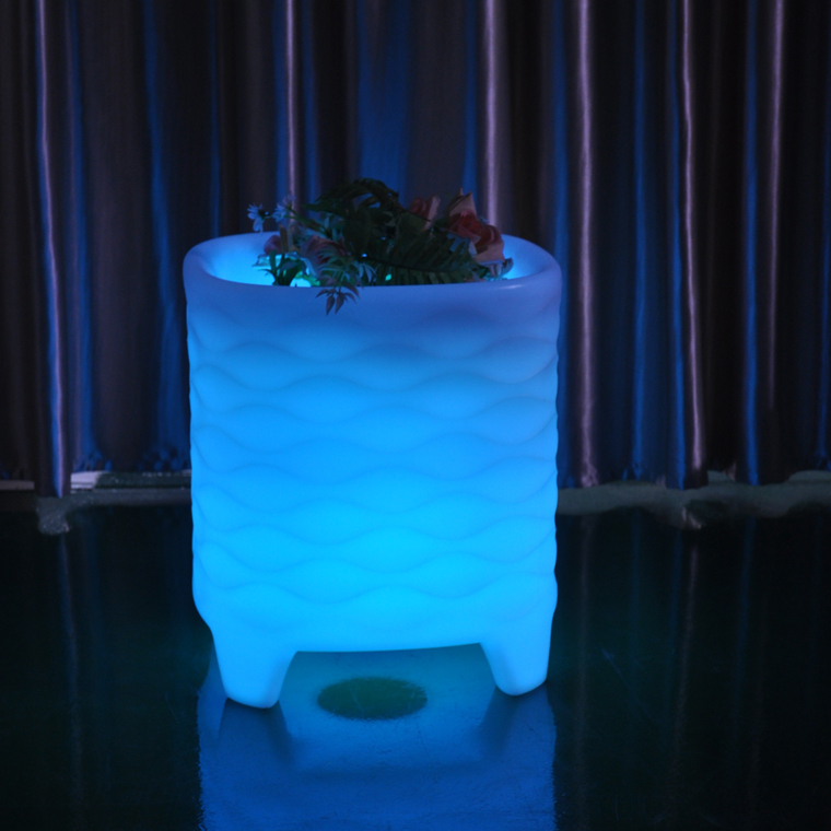 Fashionable LED light color change outdoor furniture LED flower pot/led flower vase light/led glow furniture