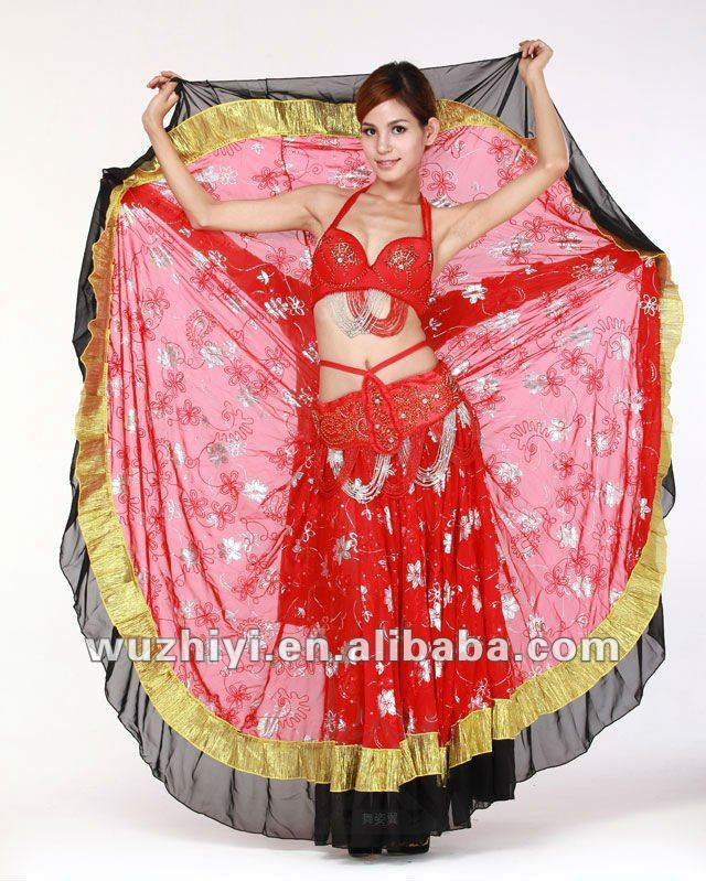 Belly Dance performance gypsy skirts (QC1294)