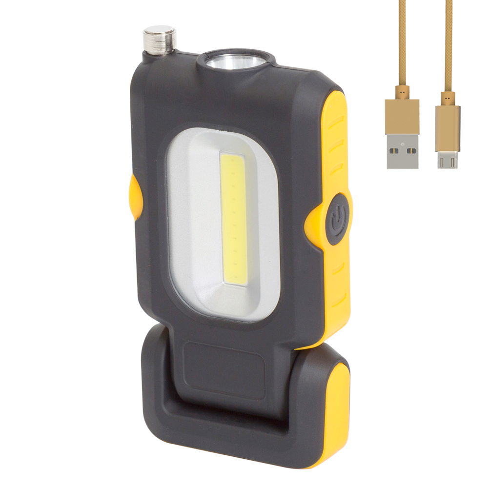 USB rechargeable 3W COB portable foldable LED work <strong>light</strong> with magnetic pick up tool