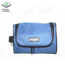 Custom 600D Polyester Hanging Travel Wash Mens Cosmetic Bag