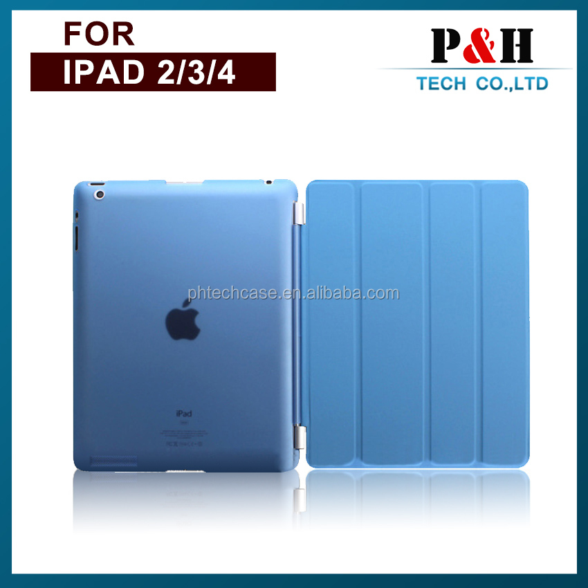 High quality Silk print Four fold leather case for Apple ipad 5