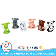 Funny plastic handstand toy small walking wind up animal with 12pcs