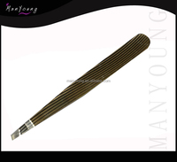 staniless steel tweezer with black color/black coat tweezer