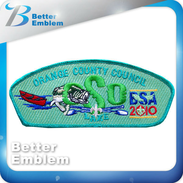 soccer custom patch embroider school logo