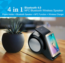 2018 creatuve wireless chargin Bluetooth Speaker, NFC Portable Wireless Speaker for iphone 6/iPad Mini 2 / iPad Mini / iPad Air
