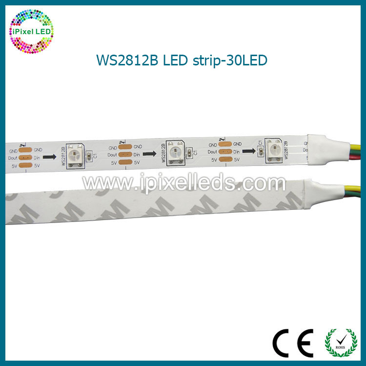 digital full color 5m 30 pixel/m ws2812b ws2811 rgb led strip;addressable ws2811 built-in smd 5050 chip; 5v input