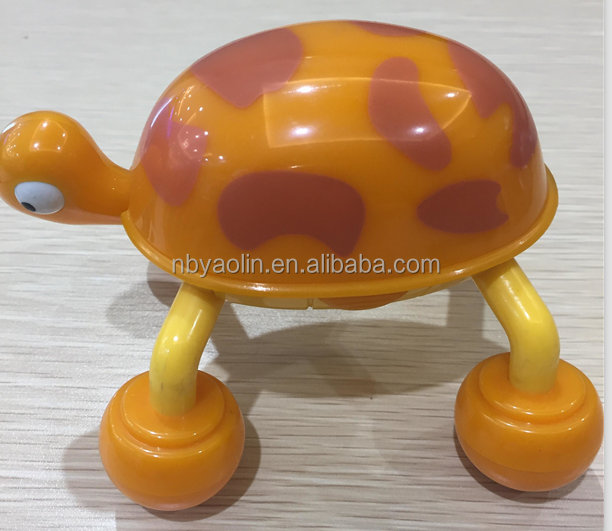 new plasctic animal turtle body to body massager