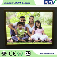 wholesale 3x5 picture frame slim backlight led light box for clothing store