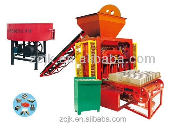 QTJ4-35I semi-automatic hydraulic settled pallet brick machine