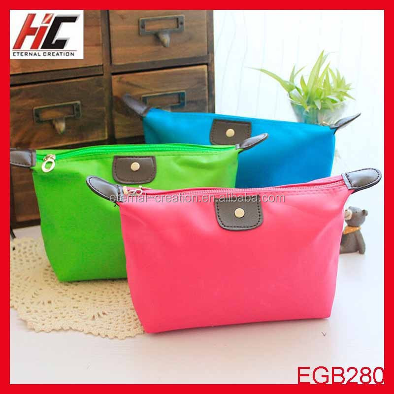 New arrival candy colors cosmetic pouch korea style travel bag makeup cases lighted makeup case