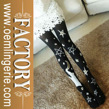 Hot sale star printing stockings