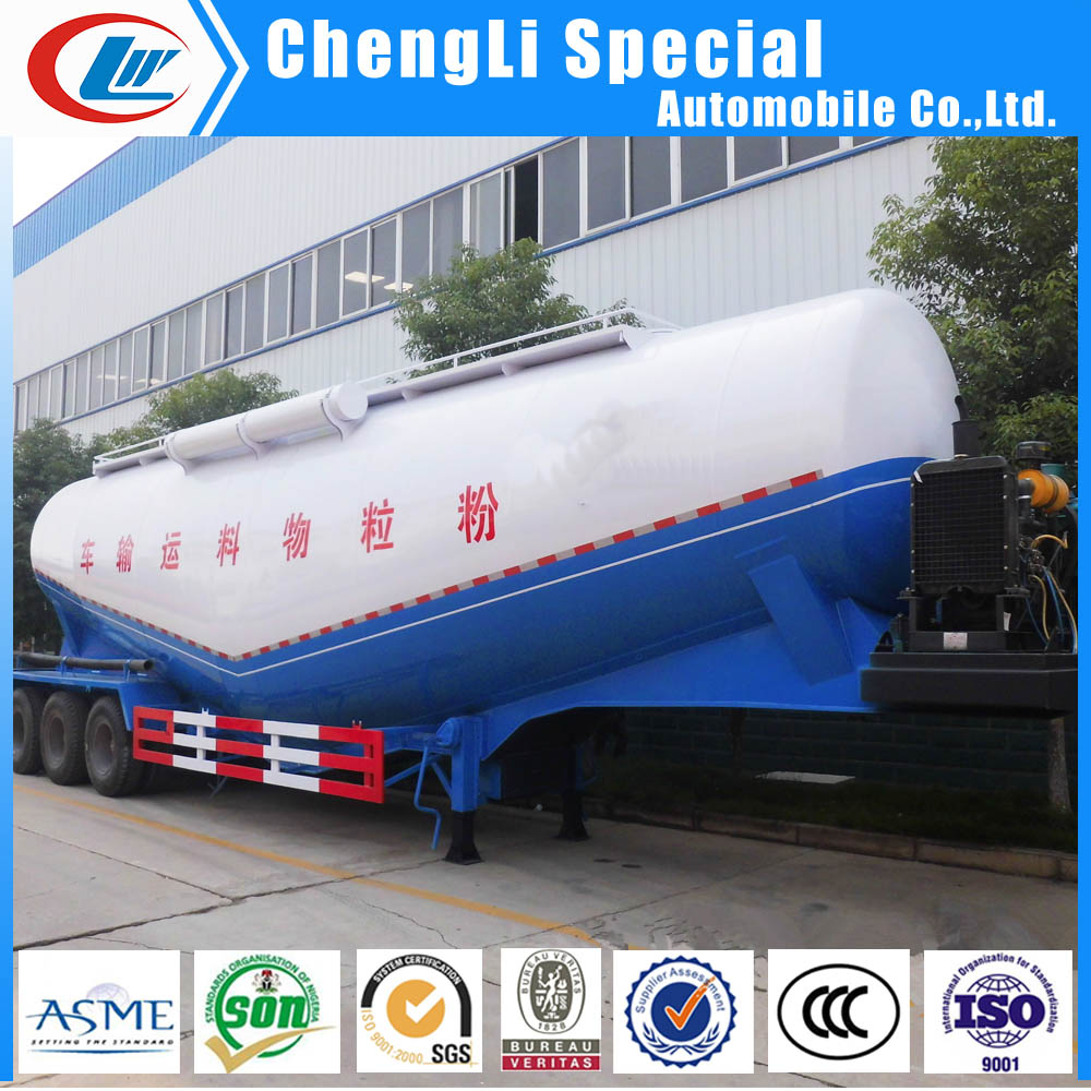 CLW brand Bulk Cement transport semi trailer dry powder cement tanker trailers 30mt for sale