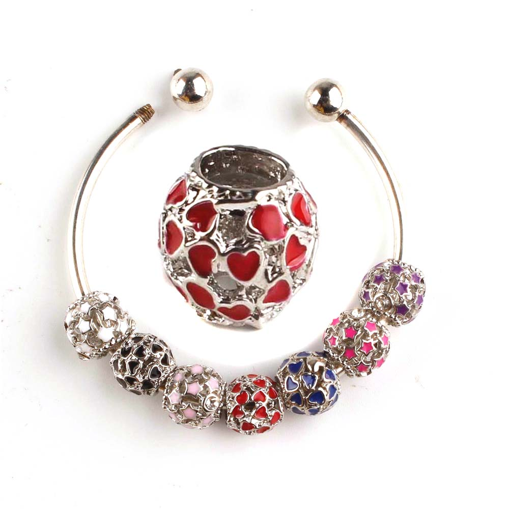 Round Hollow Heart Star Shaped Rhinestone Cheap Crystal Beads