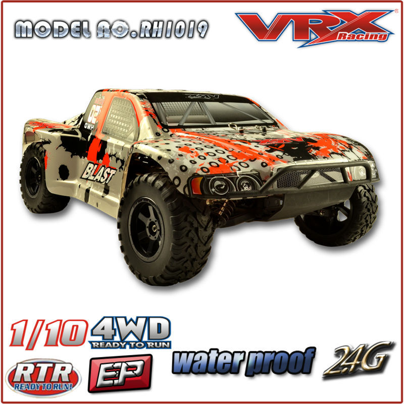 VRX Racing 1/10scale 4WD brushless short course truck with alternative color body