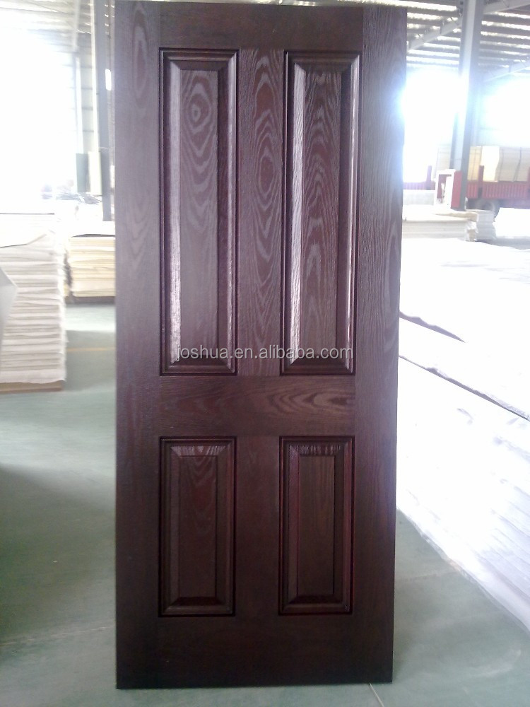 4 panels solid wood fiberglass interior door buy wood for Solid wood panel interior doors