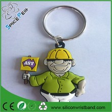Soft PVC rubber Custom 3D Country Keychains for Men or best Friends Customizable Keyring for business gift wholesale
