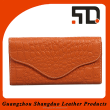 Customer friendly crocodile leather brand women wallet