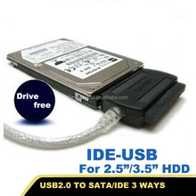 3 way sata to usb converter cable converter for ide sata hard disk with power supply