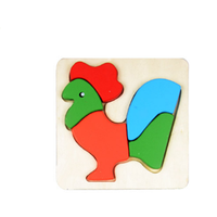 Educational DIY 3D Wooden Puzzle Animals Puzzle For Kids