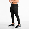 cotton stretchy zip pockets sports jogging cuff bottom men jogger pants