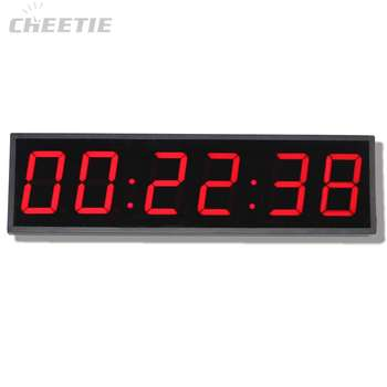 Large Classic 4 Inch 6 Digit Remote LED School Clock Digital Classroom Timer