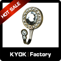 KYOK Amazing curtain rod window metal rod curtain hooks, manufacturer curtain accessory in China with 12 years experience