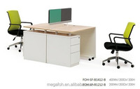 Office used furniture standard sizes of workstation for 2/ 3/ 4 persons (FOH-SF-B1412-B)