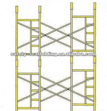 steel construction scaffolding frame