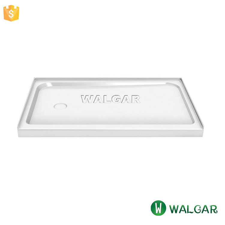 Rectangular Cultured Marble Shower Base White Shower Tray