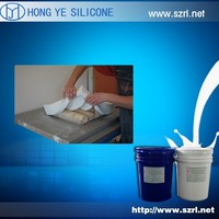Two component RTV silicone rubber for molds for artificial stone