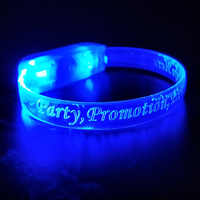 Birthday Party Decoration Promotional Gifts Custom Cheap Led Flashing Party Bracelet Led Wristband