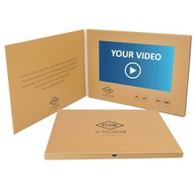 Pop up video marketing books Touch Screen lcd video greeting card Invitation mailer brochure