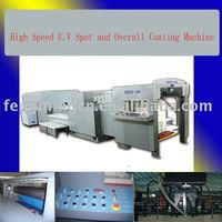 High Speed U.V Spot and Overall Coating Machine