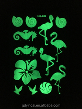 Natural body glow in the dark sticker tattoo with strongly light,temporary body tattoo sticker