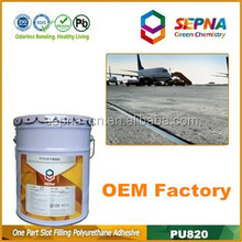 Without aspha Construction System adhesive and sealer filled with concrete