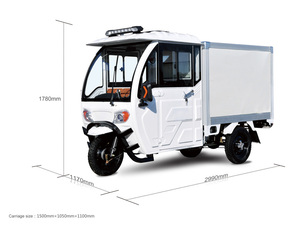 Fully-Enclosed Electric Tricyle For Delivery/transportation