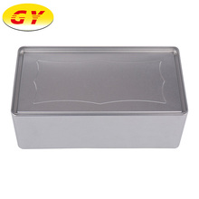 Latest design large rectangle tinplate metal storage biscuit tin box