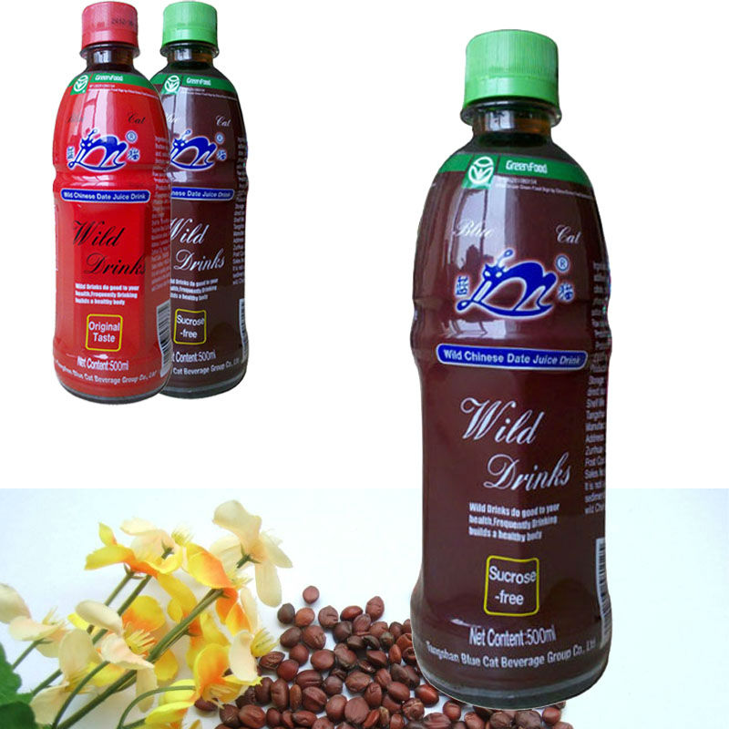 private brand wild jujube juice 500ml in bottle