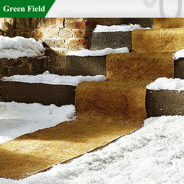 Biodegardable coco fiber snow melting mat, ice carpet