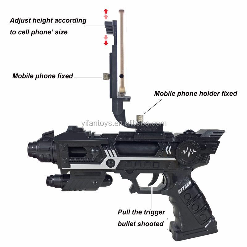 AR Game Gun,Mixed Reality VR Virtual Reality Connected Via Bluetooth App control with 3D AR Games for Cell Phone