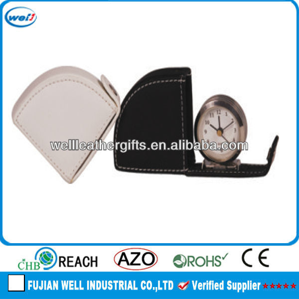 high quality leather desk clock