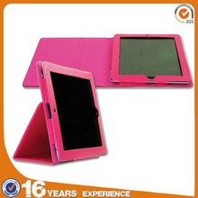 Custom flip cover case for tablet, shockproof cute leather PC tablet case