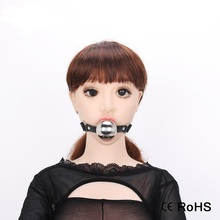 Low Price Open Mouth Sex Toy Newest Item Pink Open Mouth Gag Restraint Pu Leather Belt Ball Gag Sex Toys For Couples Adult Game