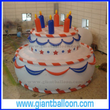 Inflatable Plastic Birthday Cake